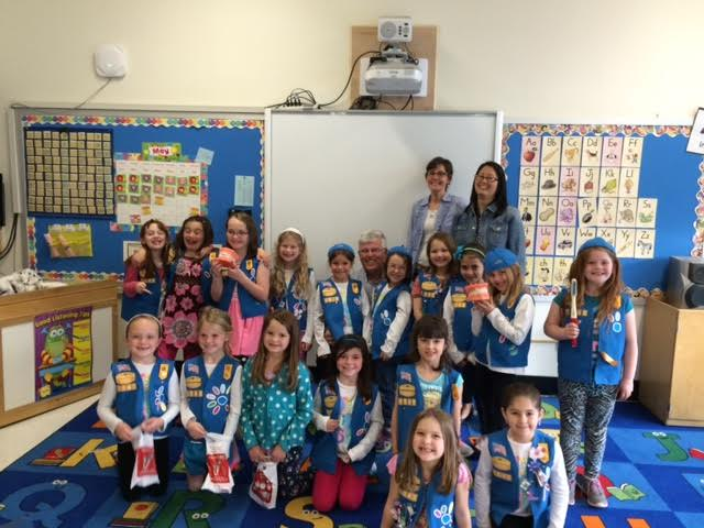 Dr. Jusseaume visits Daisy Troop 1045 in Westport CT